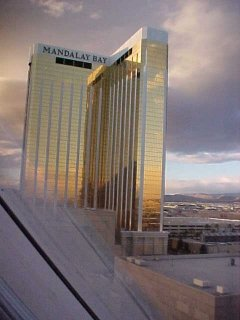 Extreme left look out window at Mandalay Bay, same owner as Luxur and others